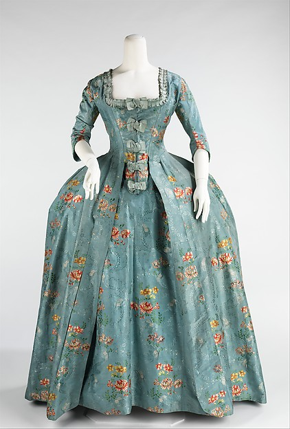 Robe à la Française, silk, cotton, French