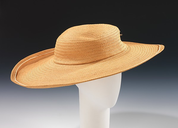 Picture hat, Caroline Reboux (French, active 1870–1956), straw, silk, French