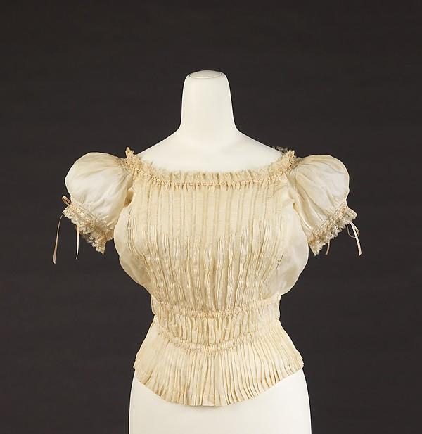 Corset cover, cotton, silk, French