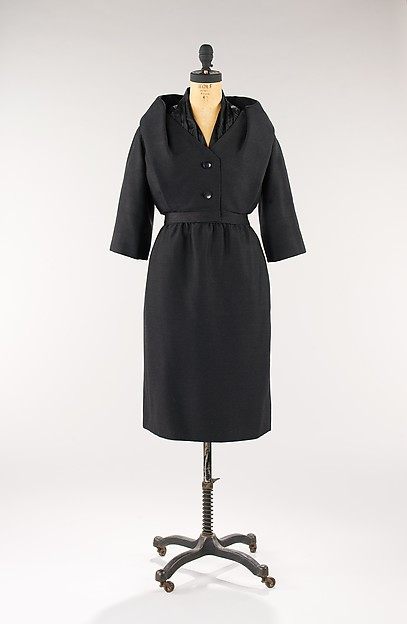 Cocktail suit, Attributed to House of Dior (French, founded 1947), wool, silk, French