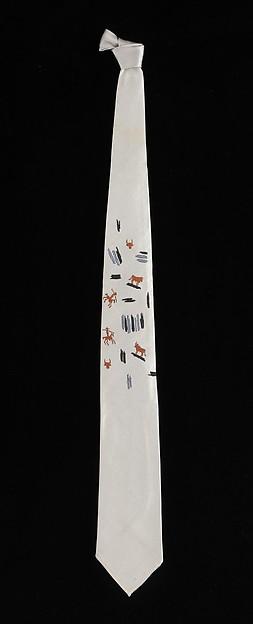 Necktie, Pablo Picasso (Spanish, Malaga 1881–1973 Mougins, France), silk, French