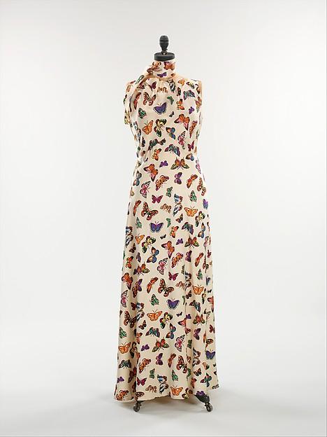 Evening dress, Elsa Schiaparelli (Italian, 1890–1973), silk, French