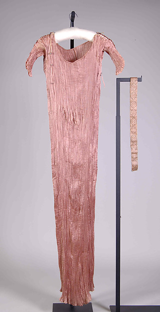 """Delphos"", Fortuny (Italian, founded 1906), Silk, glass, Italian"