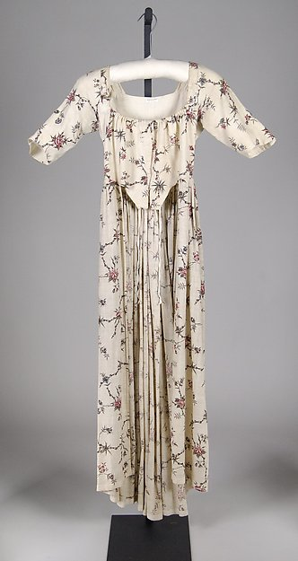 Robe a l'Anglaise, Cotton, probably British