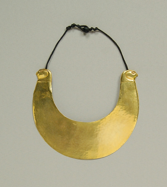 Necklace, Possibly Mary McFadden (American, born New York, 1938), Metal, silk, American