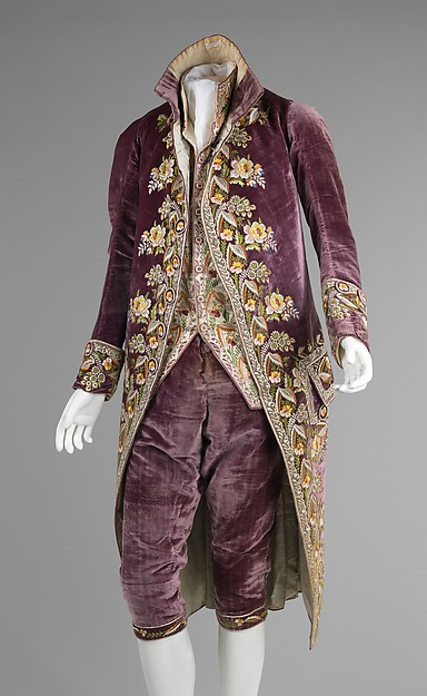 Court suit, silk, French