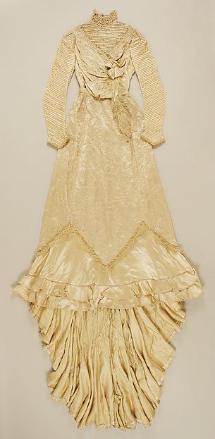 Wedding dress, silk, British
