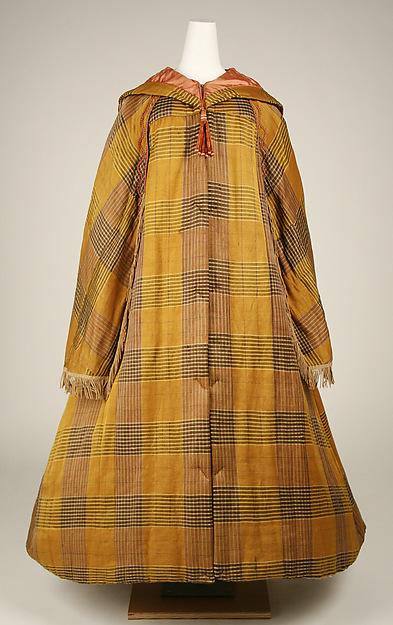 Cloak, silk, cotton, American