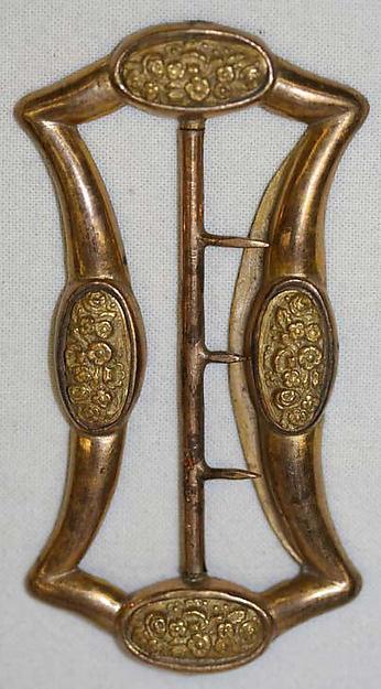 Belt buckle, gold, European