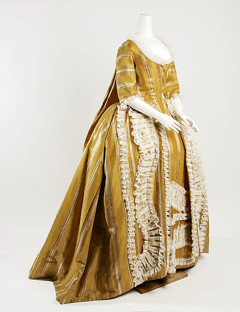Dress, silk, European