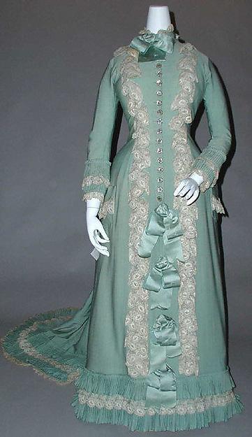 Tea gown, silk, cotton, French