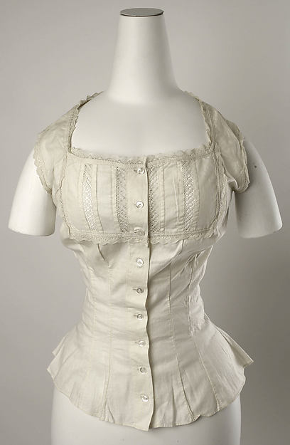 Corset cover, cotton, American or European