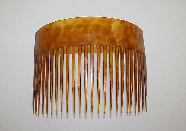 Comb, tortoiseshell, American or European