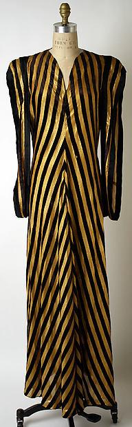 Evening dress, Valentina (American, born Russia, 1899–1989), silk, metallic, American