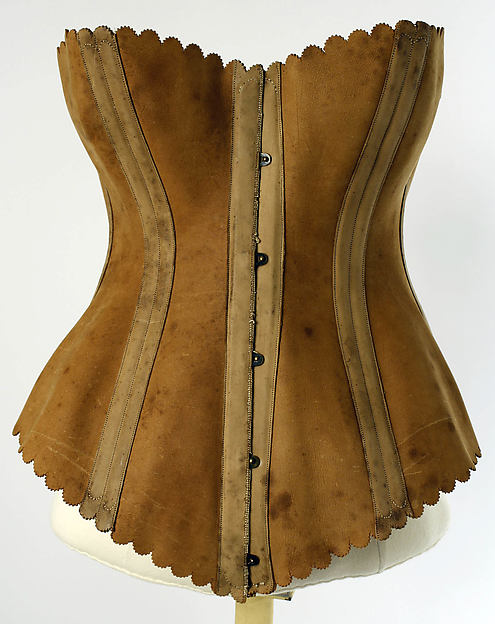 Corset, Maison Léoty (French), leather, steel, French