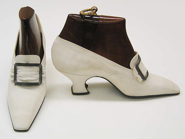 Pumps, Pierre Yantorny (Italian, 1874–1936), leather, silk, French