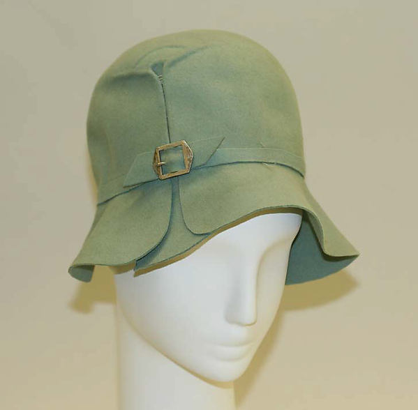 Cloche, wool, metal, French