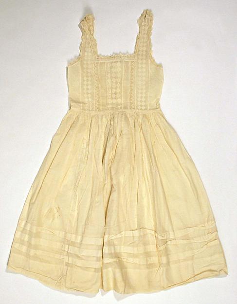 Pinafore, cotton, American