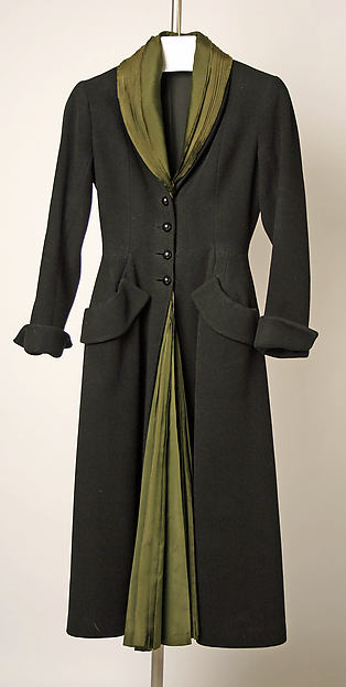 """""""Mystère"""", House of Dior (French, founded 1947), wool, silk, French"""