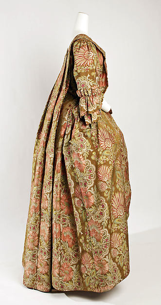 Dress, silk, probably British
