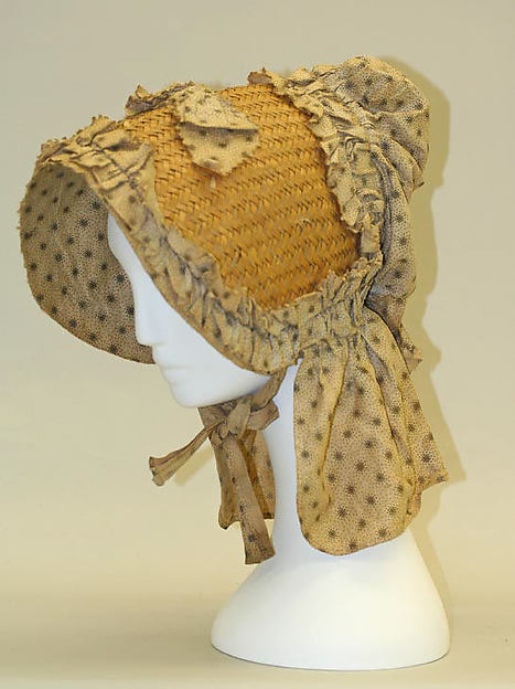Bonnet, cotton, American