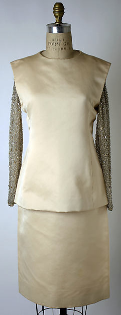 Evening ensemble, Yves Saint Laurent, Paris (French, founded 1961), silk, glass beads, metallic thread, French