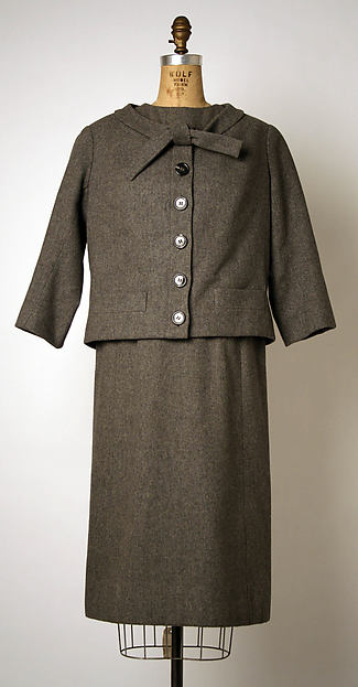 Ensemble, House of Dior (French, founded 1947), wool, French