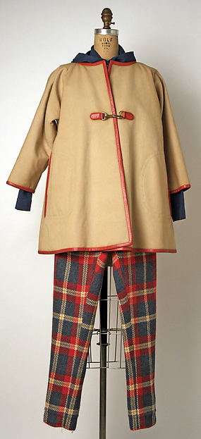 Ensemble, (a–c) Bonnie Cashin (American, Oakland, California 1908–2000 New York), (a) cotton; (b, c) wool; (d, e) leather; (f, g) nylon, American
