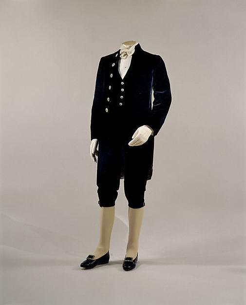 Court presentation suit, silk, British