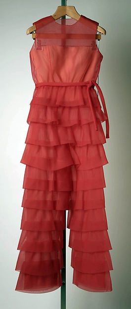 Evening ensemble, (a, b) House of Givenchy (French, founded 1952), synthetic, silk, leather, French