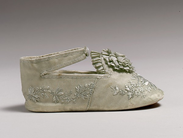 Shoes, silk, cotton, leather, American