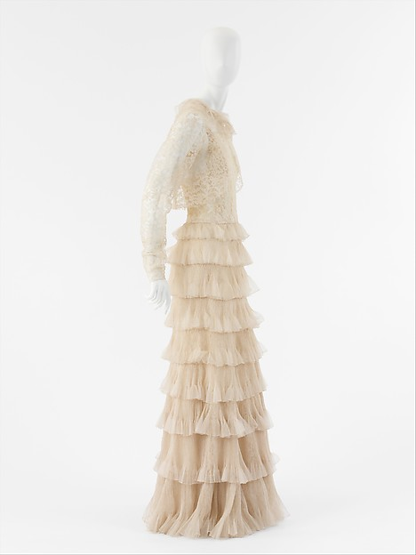 Evening ensemble, House of Chanel (French, founded 1913), silk, French