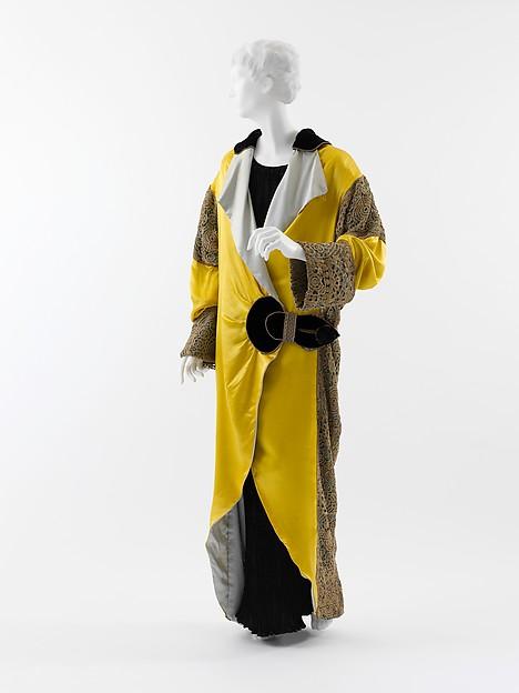 Opera coat, Paul Poiret (French, Paris 1879–1944 Paris), silk, metal, French