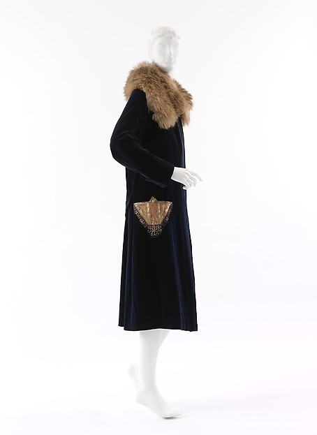 Coat, Paul Poiret (French, Paris 1879–1944 Paris), silk, fur, French