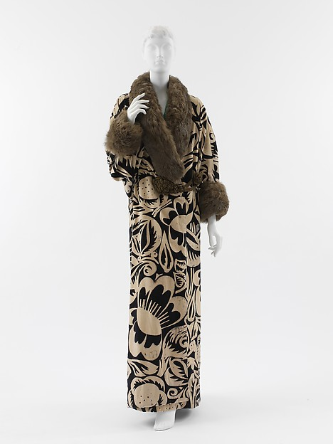 """La Perse"", Paul Poiret (French, Paris 1879–1944 Paris), cotton, silk, metallic thread, fur, French"