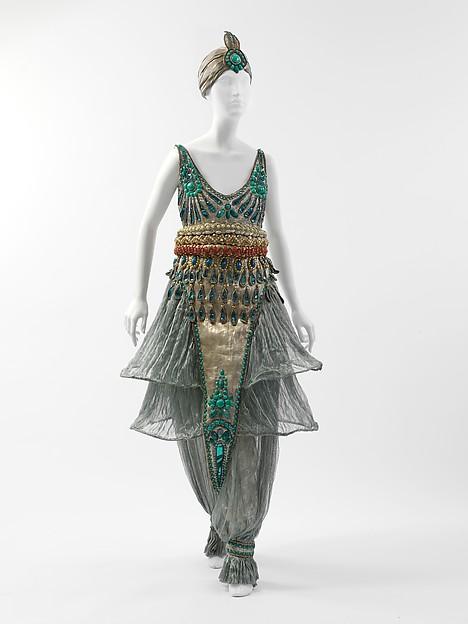 Fancy dress costume, Paul Poiret (French, Paris 1879–1944 Paris), metal, silk, cotton, French