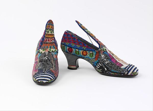 """""""Le Bal"""", Paul Poiret (French, Paris 1879–1944 Paris), a, b) silk, glass, leather, French"""