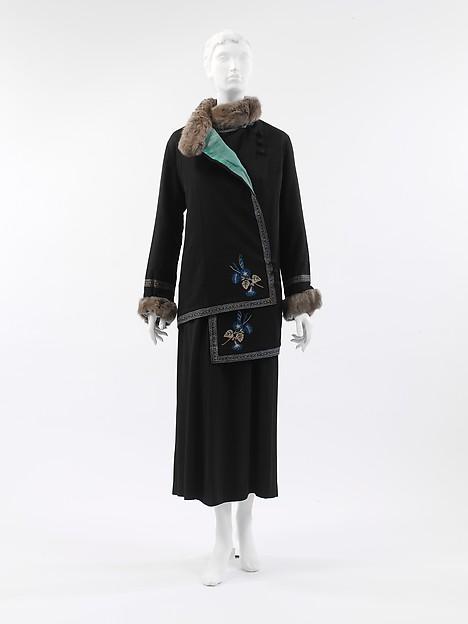 """""""Steppe"""", Paul Poiret (French, Paris 1879–1944 Paris), silk, wool, fur, cotton, French"""