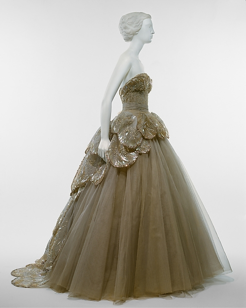 """Venus"", House of Dior (French, founded 1947), silk, sequins, rhinestones, simulated pearls, French"