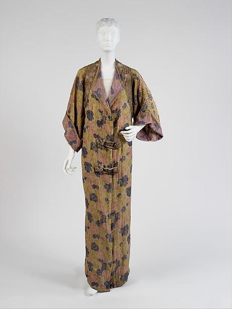 Evening coat, Paul Poiret (French, Paris 1879–1944 Paris), silk, metal, French
