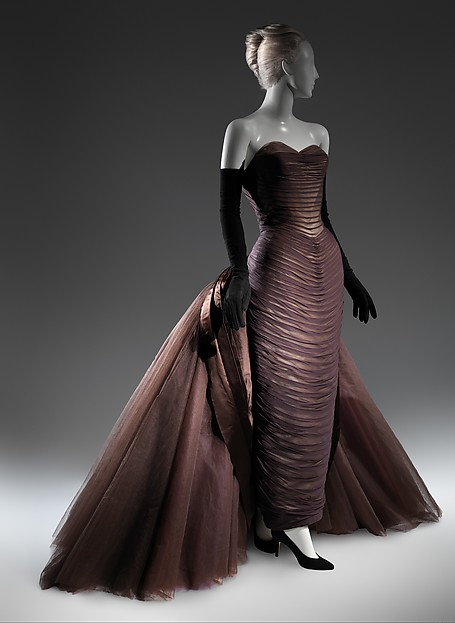 """""""Butterfly"""", Charles James (American, born Great Britain, 1906–1978), silk, synthetic, metal, American"""