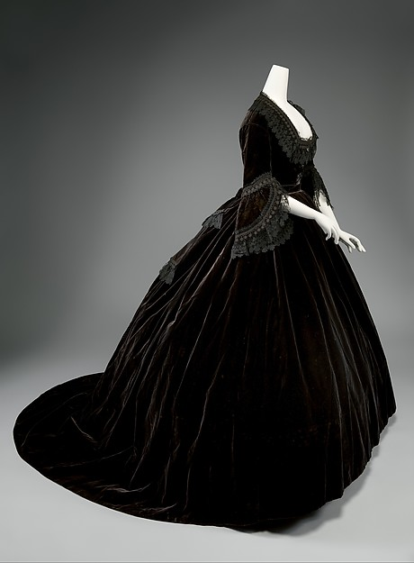 Dress, silk, French