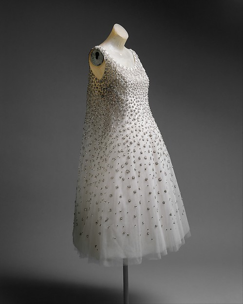 """L'Eléphant Blanc"", House of Dior (French, founded 1947), silk, metallic thread, glass, plastic, French"
