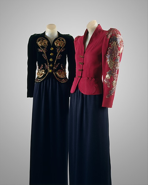 Evening jacket, House of Schiaparelli (French, founded 1928), synthetic, French
