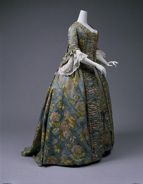 Robe à la Française, silk, British