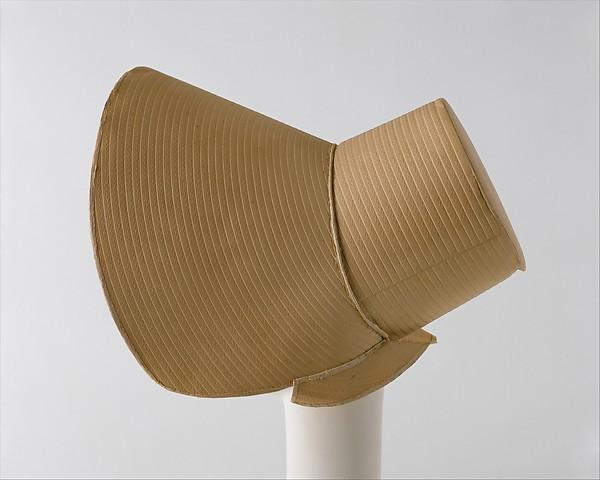 Bonnet, paper, silk, American or European