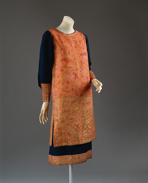 Dress, Callot Soeurs (French, active 1895–1937), wool, silk, metallic thread, French
