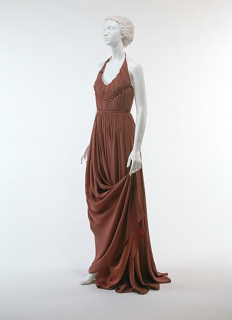 Evening dress, Edward Molyneux (French (born England), London 1891–1974 Monte Carlo), estron, rayon, French