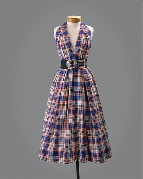 Dress, Claire McCardell (American, 1905–1958), cotton, rubber, metal, American