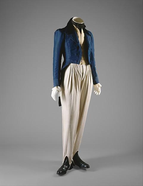 Trousers, flax, British